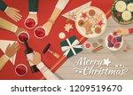 group of friends celebrating... | Shutterstock .eps vector #1209519670