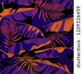 seamless bright floral pattern. ...   Shutterstock .eps vector #1209526459
