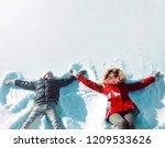 happy family in winter  mother... | Shutterstock . vector #1209533626