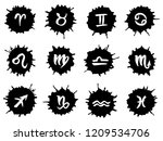 collection of hand drawn zodiac ... | Shutterstock .eps vector #1209534706