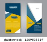 narrow flyer and leaflet design.... | Shutterstock .eps vector #1209535819