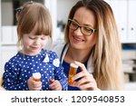 beautiful smiling female doctor ... | Shutterstock . vector #1209540853