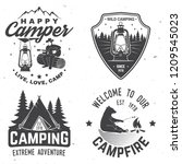 happy camper. vector... | Shutterstock .eps vector #1209545023