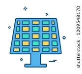 solar panel icon design vector | Shutterstock .eps vector #1209548170