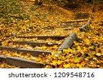 kyiv stairs to volodymyrska hill | Shutterstock . vector #1209548716