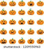 vector halloween halloween... | Shutterstock .eps vector #1209550963