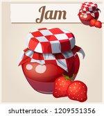 strawberry jam. cartoon icon.... | Shutterstock . vector #1209551356