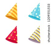 set of party hat. vector... | Shutterstock .eps vector #1209551533