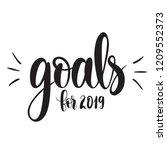illustration 2019 goals  vector ... | Shutterstock .eps vector #1209552373