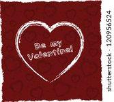 valentine's day card. grunge... | Shutterstock .eps vector #120956524