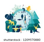 vector illustration small... | Shutterstock .eps vector #1209570880