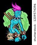 zombie punk. tattoo art ...   Shutterstock .eps vector #1209574396