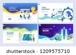 set of landing page template... | Shutterstock .eps vector #1209575710