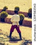 turkish  man and horseman... | Shutterstock . vector #1209583543