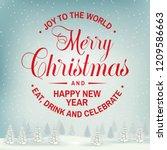 joy to the world. merry... | Shutterstock . vector #1209586663