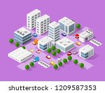isometric set of the modern 3d... | Shutterstock .eps vector #1209587353