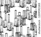 vector background of sketches... | Shutterstock .eps vector #1209592183
