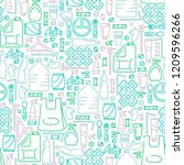 seamless pattern with plastic... | Shutterstock .eps vector #1209596266