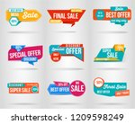 set of sale banner template... | Shutterstock .eps vector #1209598249