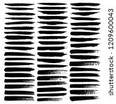 set of brush stroke  black ink... | Shutterstock .eps vector #1209600043