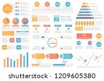 infographic elements   bar and... | Shutterstock .eps vector #1209605380
