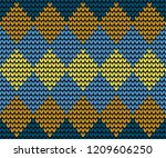 abstract golden and blue... | Shutterstock .eps vector #1209606250