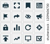 user icons set with browser ...