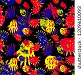 creative seamless pattern with...   Shutterstock . vector #1209610093