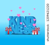 world kindness day with 3d text ...   Shutterstock .eps vector #1209621220