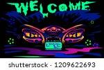 halloween car party  invitation ... | Shutterstock .eps vector #1209622693