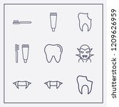 outline 9 mouth icon set.... | Shutterstock .eps vector #1209626959