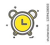 alarm clock icon design vector | Shutterstock .eps vector #1209628003