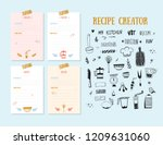 Modern Recipe Card Template Set ...