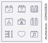 outline 9 month icon set....   Shutterstock .eps vector #1209632833