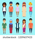 men and women of different... | Shutterstock .eps vector #1209637423