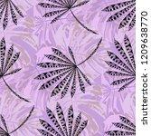 tropical plants. seamless... | Shutterstock .eps vector #1209638770