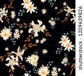 little flowers. seamless... | Shutterstock .eps vector #1209639826