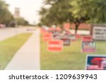 blurred image row of yard sign... | Shutterstock . vector #1209639943