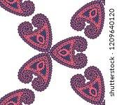 seamless hand drawn pattern...   Shutterstock .eps vector #1209640120