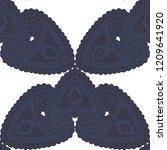 seamless hand drawn pattern...   Shutterstock .eps vector #1209641920
