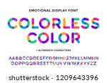 colorful font. colorful bright... | Shutterstock . vector #1209643396