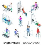 physiotherapy rehabilitation... | Shutterstock .eps vector #1209647920