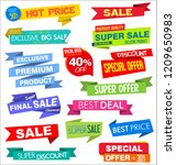 collection of labels stickers... | Shutterstock .eps vector #1209650983
