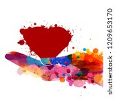 vector colorful watercolor... | Shutterstock .eps vector #1209653170