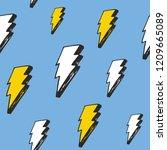lightning seamless pattern... | Shutterstock .eps vector #1209665089