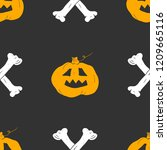 halloween seamless pattern.... | Shutterstock .eps vector #1209665116