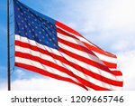 red white and blue american... | Shutterstock . vector #1209665746