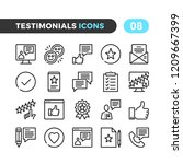 testimonials line icons.... | Shutterstock .eps vector #1209667399