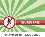Gluten free banner for food allergy concept - stock photo