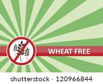 Wheat free banner for food allergy concept - stock photo